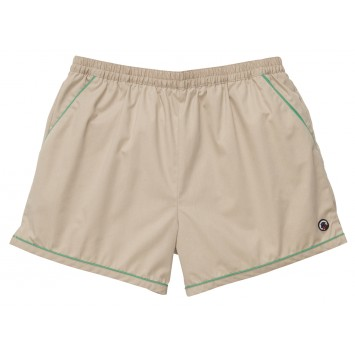 Hackett Short: Khaki with Green